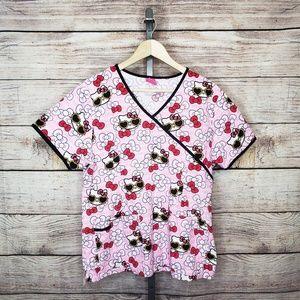766a11f0590 Hello Kitty · Hello Kitty Fun Summer Print Scrub Top